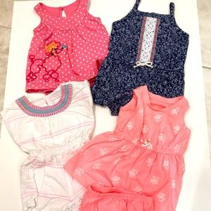 Carter's baby dress and shorts